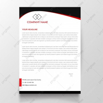 009 Shocking Simple Letterhead Format In Word Free Download Idea 360