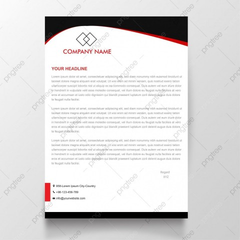 009 Shocking Simple Letterhead Format In Word Free Download Idea 480