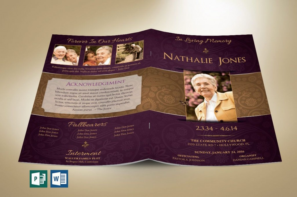 009 Shocking Template For Funeral Program Publisher Example Large