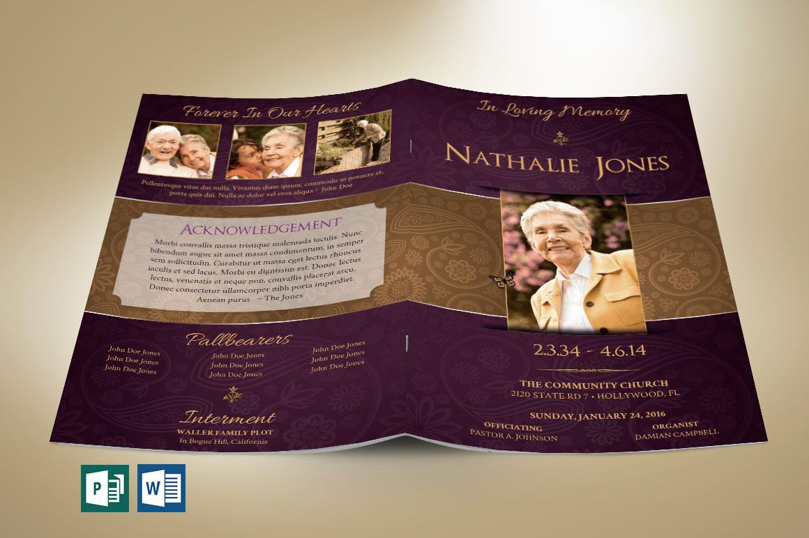 009 Shocking Template For Funeral Program Publisher Example Full