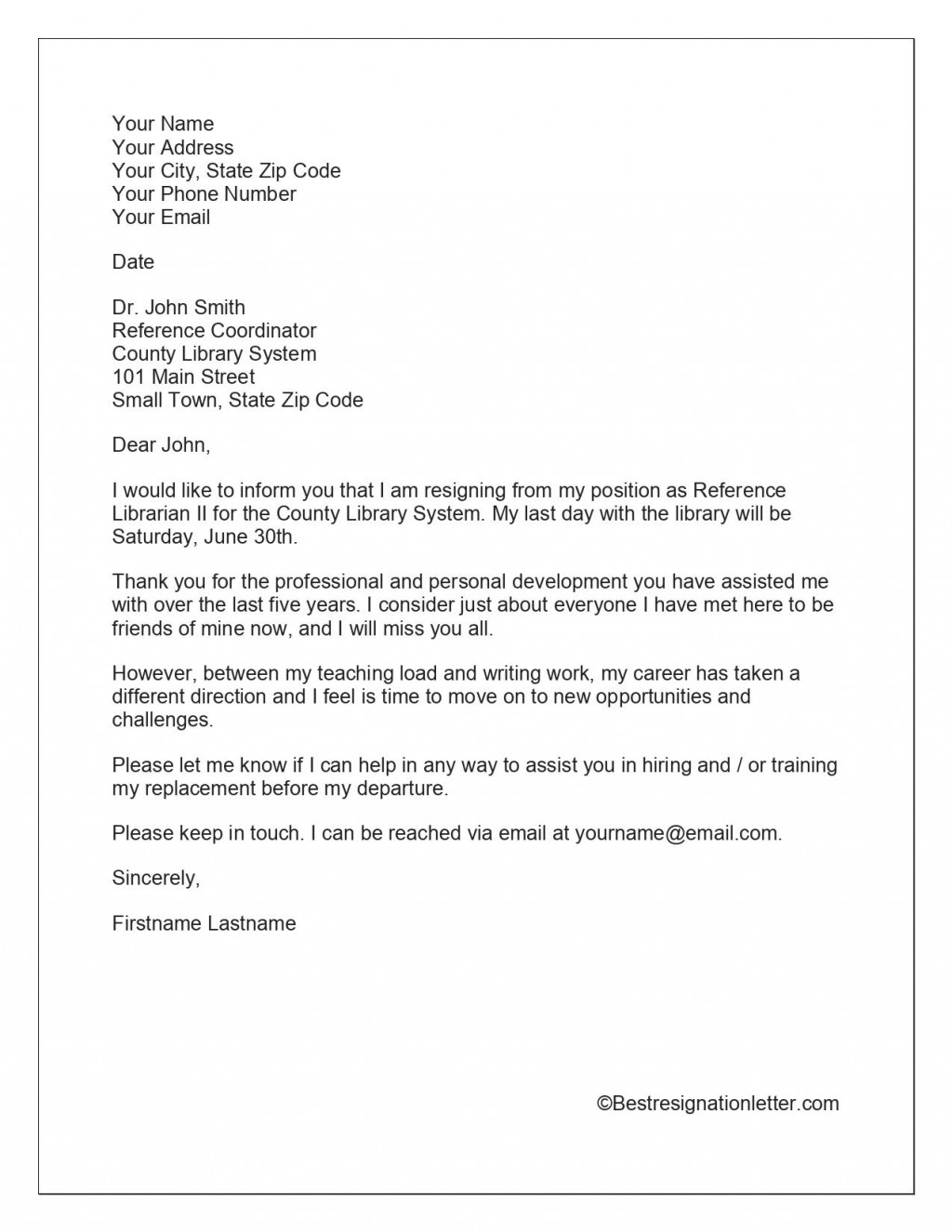 009 Shocking Template For Letter Of Resignation Idea  Free With Notice Period WordLarge