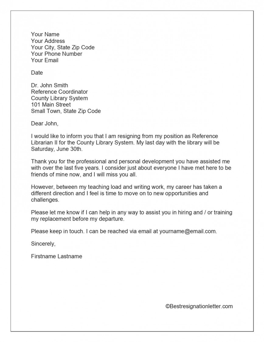 009 Shocking Template For Letter Of Resignation Idea  Uk From Employment Formal