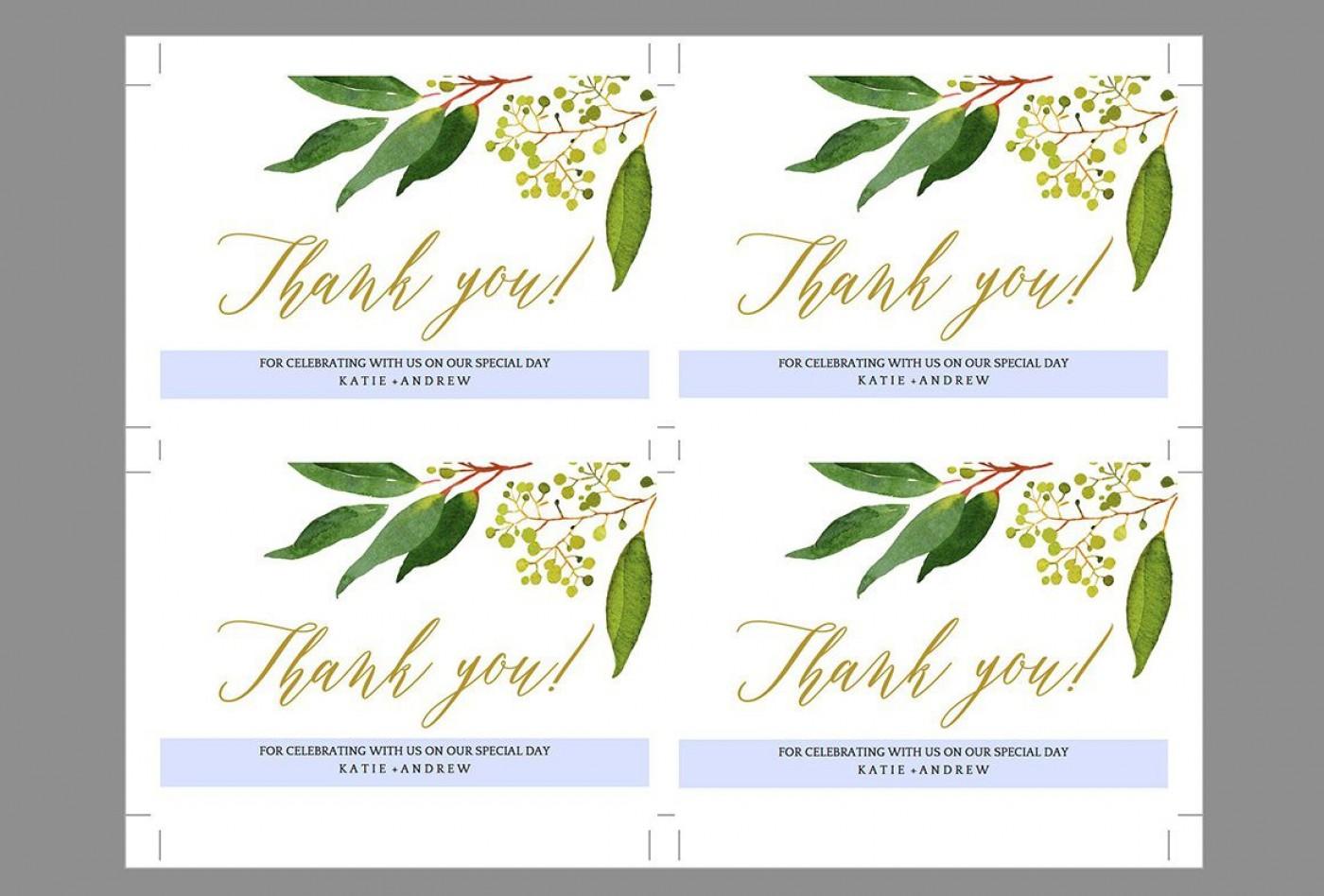 009 Shocking Wedding Thank You Card Template Inspiration  Photoshop Word Etsy1400