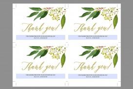 009 Shocking Wedding Thank You Card Template Inspiration  Photoshop Word Etsy