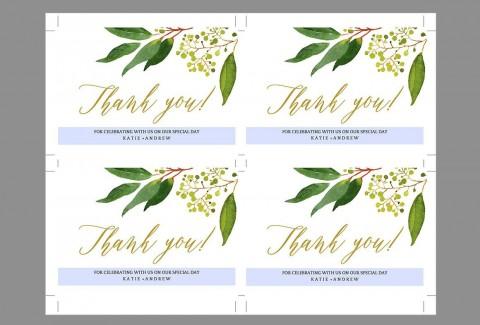 009 Shocking Wedding Thank You Card Template Inspiration  Photoshop Word Etsy480