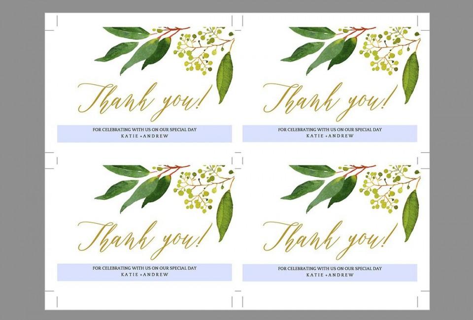 009 Shocking Wedding Thank You Card Template Inspiration  Photoshop Word Etsy960
