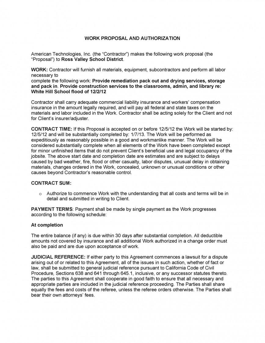 009 Shocking Writing A Job Proposal Template Sample High Definition 868