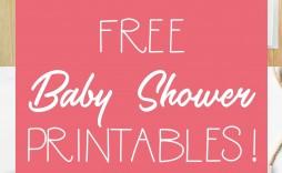 009 Simple Free Baby Shower Printable Elephant Inspiration  Decoration