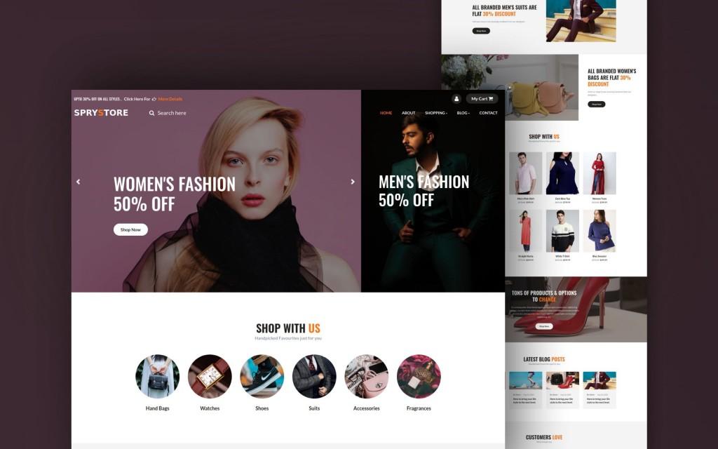 009 Simple Free Html Template Download For Online Shopping Website Sample  WebsitesLarge