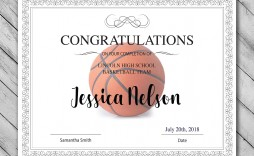 009 Simple Free Printable Basketball Certificate Template Inspiration  Templates