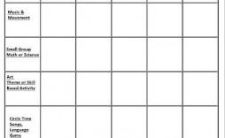 009 Simple Free Printable Lesson Plan Template Idea  Preschool Weekly For Kindergarten
