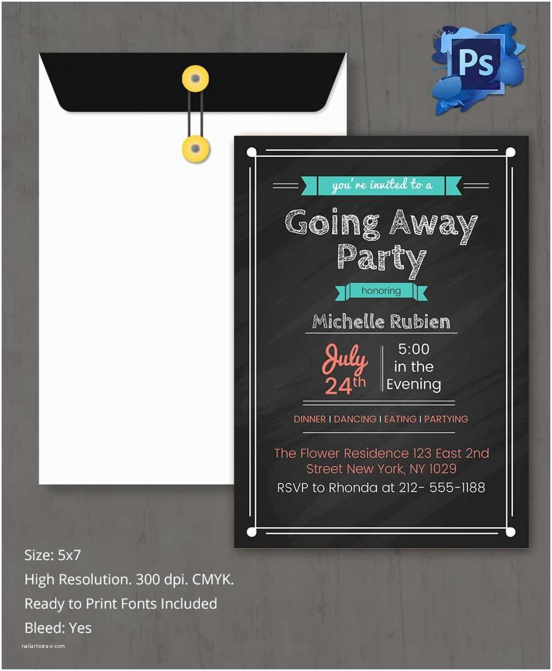 009 Simple Going Away Party Invitation Template Idea  Free Printable1920
