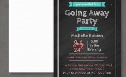 009 Simple Going Away Party Invitation Template Idea  Free Printable