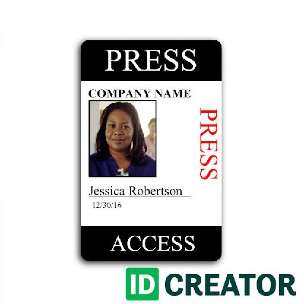 009 Simple Id Badge Template Free Online Design Large