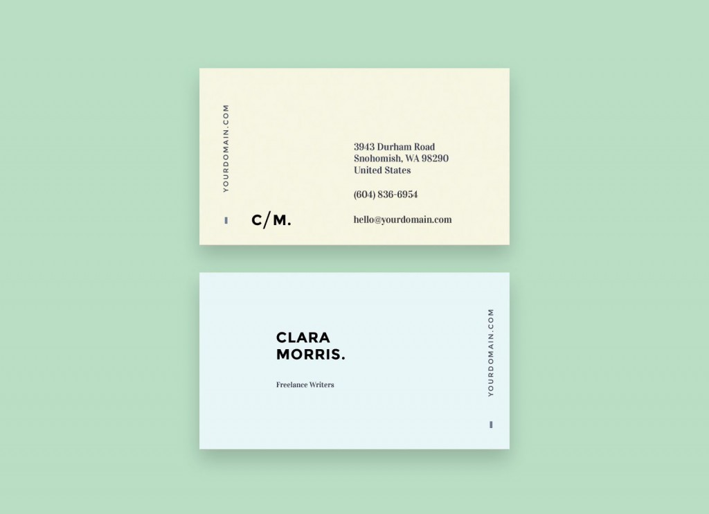 009 Simple Minimal Busines Card Template Free Picture  Easy DownloadLarge