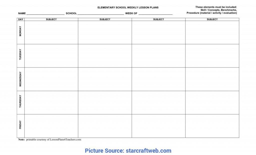 009 Simple Printable Lesson Plan Template For Teacher Idea  TeachersLarge