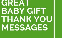 009 Simple Thank You Card Wording Baby Shower Gift Idea  For Multiple Group