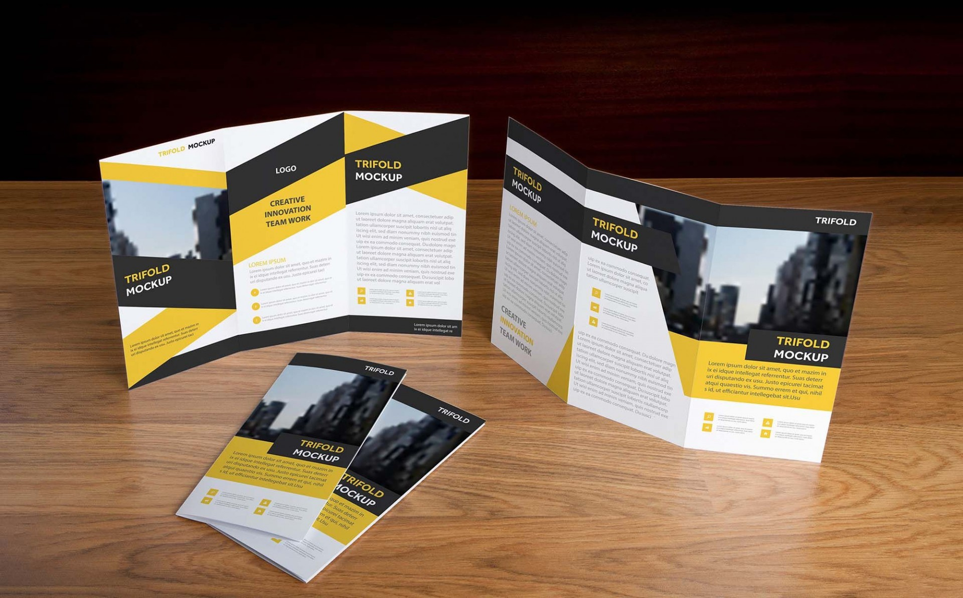 009 Simple Tri Fold Template Free Idea  Brochure Download Psd Microsoft Word1920