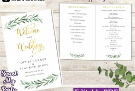 009 Simple Wedding Order Of Service Template Free High Definition  Front Cover Download Church