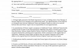 009 Singular Addendum Form For Rental Agreement Highest Quality
