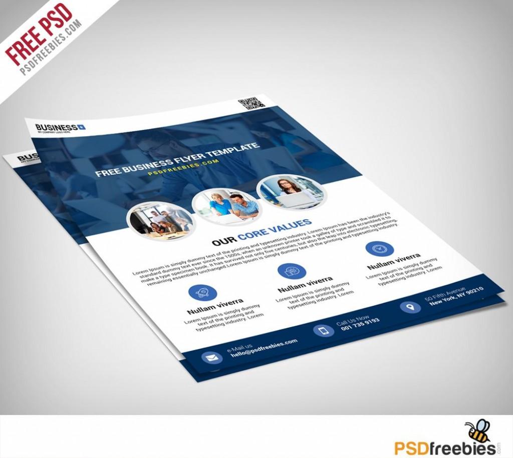 009 Singular Busines Flyer Template Free Picture  Psd 2018 Vector Brochure TrainingLarge