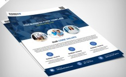 009 Singular Busines Flyer Template Free Picture  Psd 2018 Vector Brochure Training