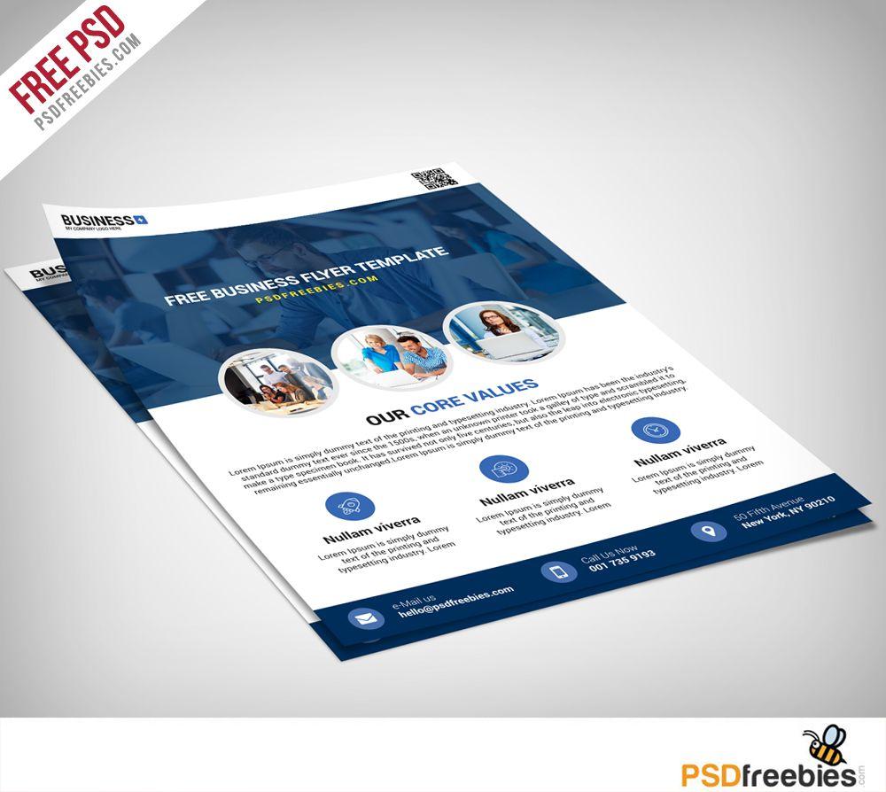 009 Singular Busines Flyer Template Free Picture  Psd 2018 Vector Brochure TrainingFull