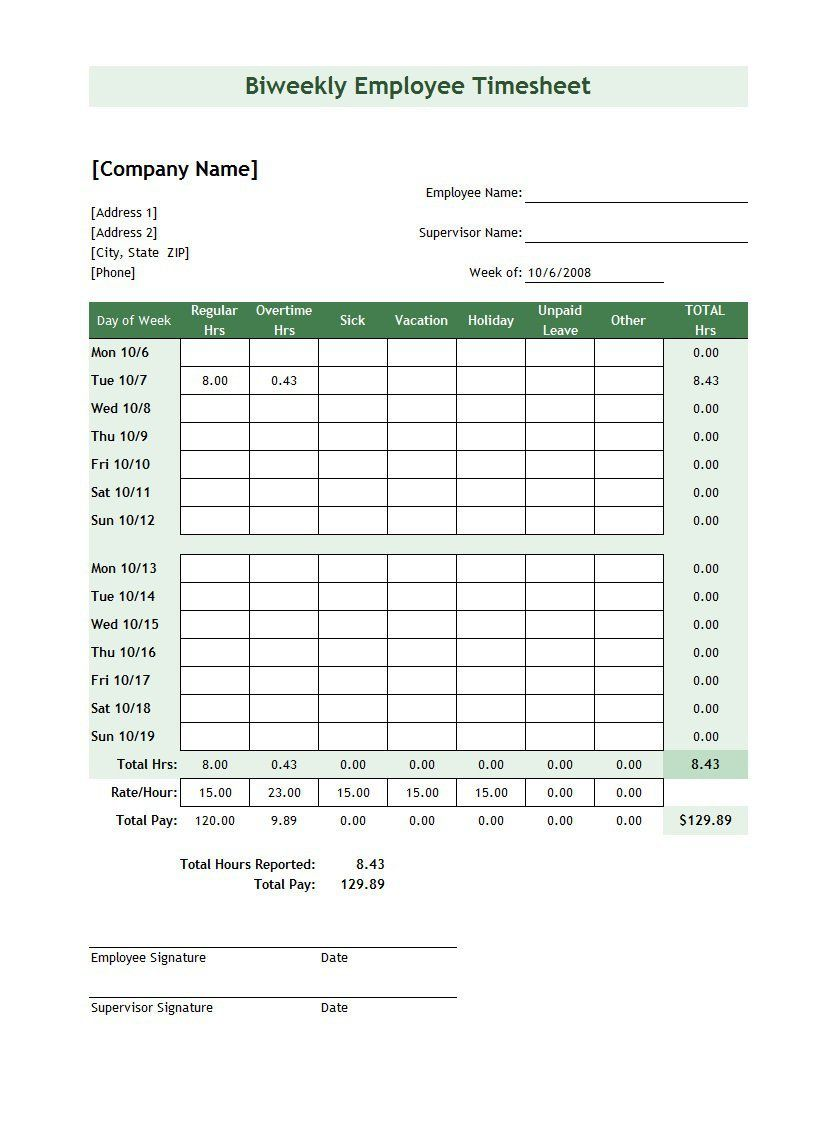 009 Singular Excel Time Card Template Photo  M Employee Calculator FreeFull