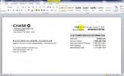 009 Singular Fake Chase Bank Statement Template Sample  Free Create
