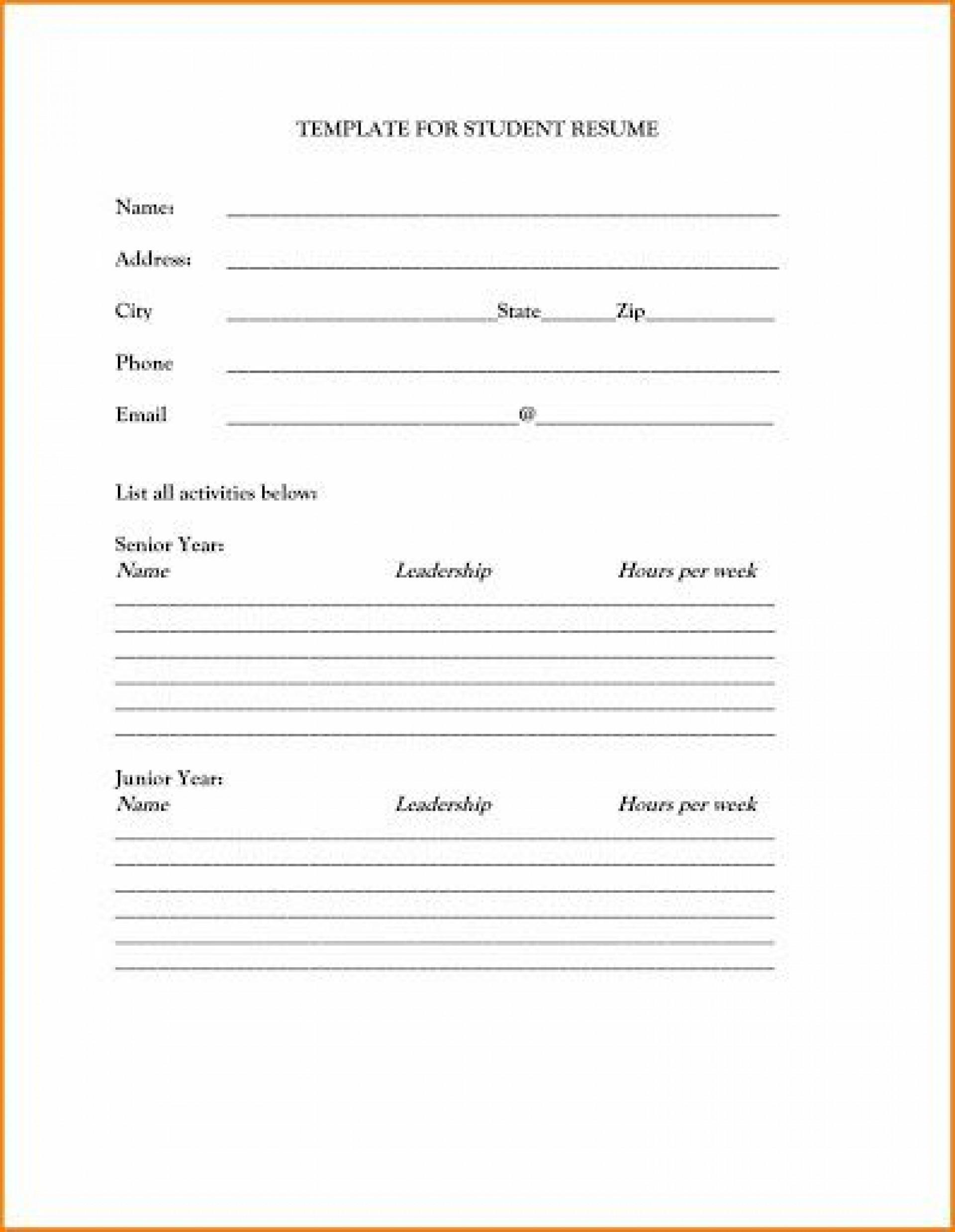 009 Singular Free Basic Blank Resume Template Sample  Templates Word Printable To Print1920