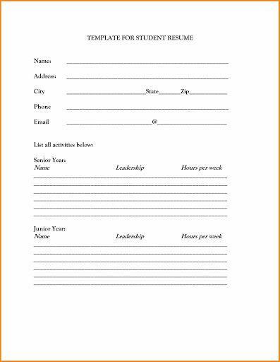 009 Singular Free Basic Blank Resume Template Sample  Templates Word Printable To PrintFull