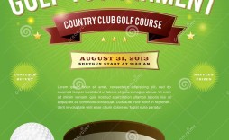 009 Singular Free Charity Golf Tournament Flyer Template Idea