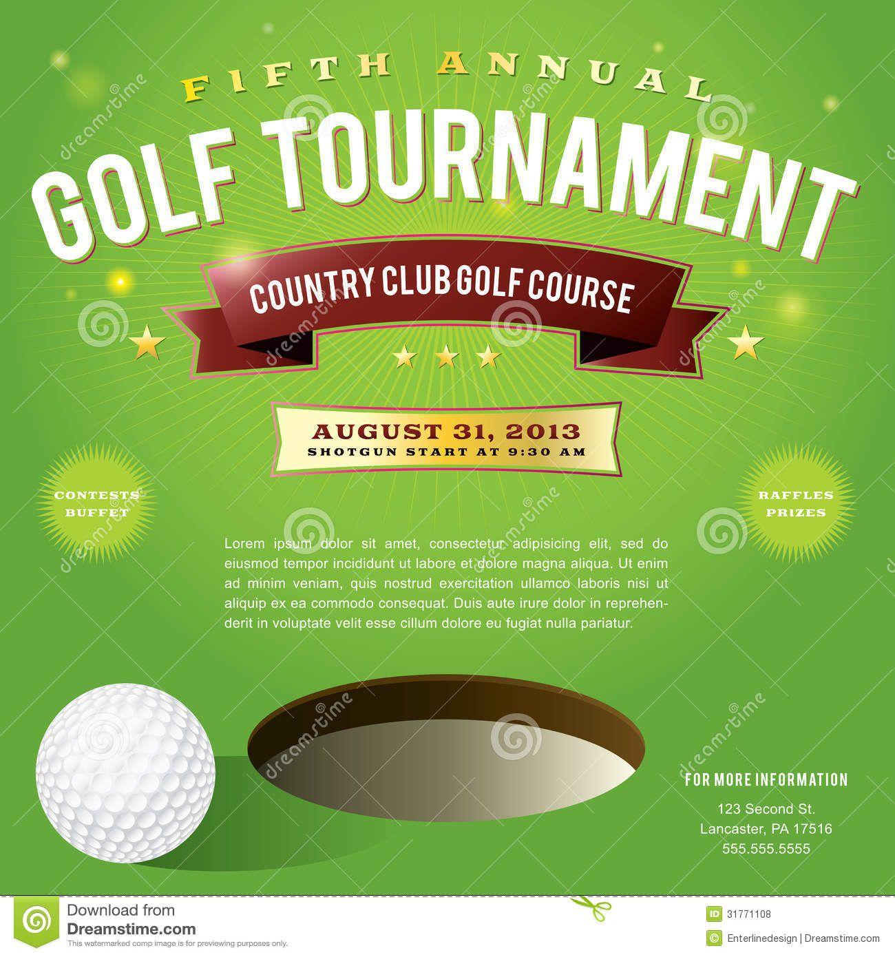 009 Singular Free Charity Golf Tournament Flyer Template Idea Full