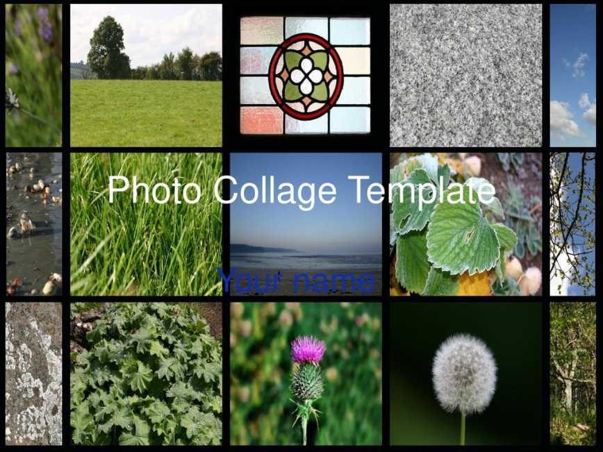009 Singular Free Photo Collage Template For Powerpoint Image