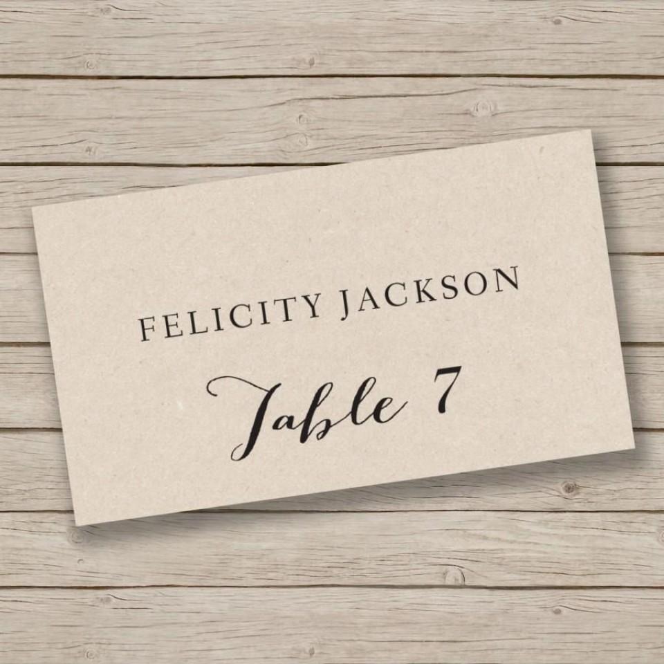 009 Singular Free Place Card Template Word Image  Blank Microsoft Wedding Name960