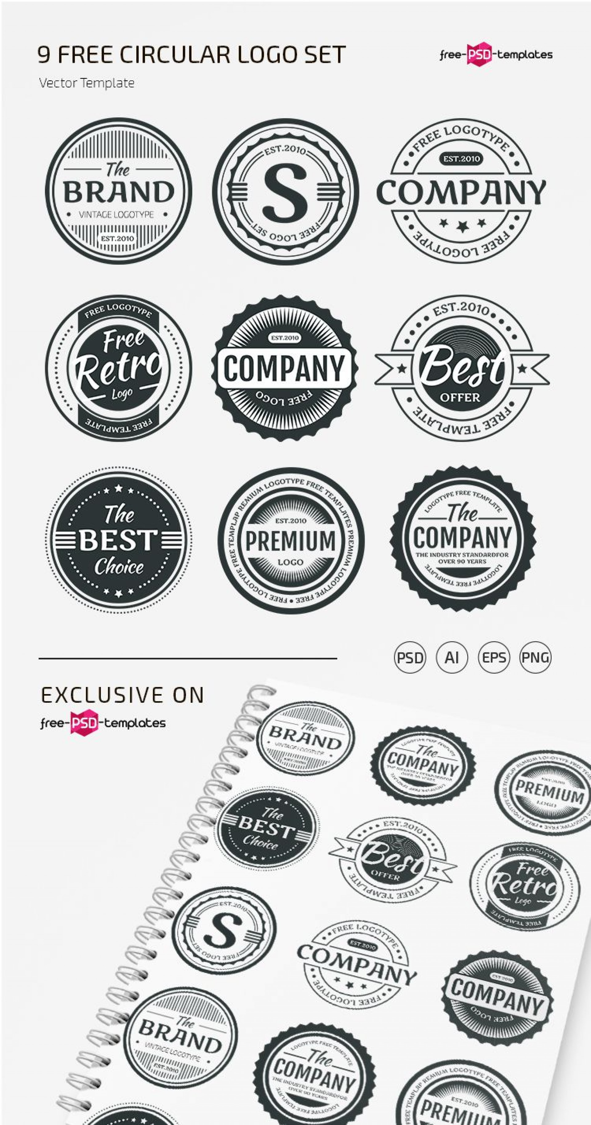 009 Singular Free Psd Logo Template High Resolution  Templates Design For Photographer Dj1920