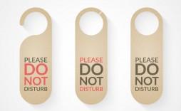 009 Singular Free Template For Door Hanger High Def  Hangers Printable Knob