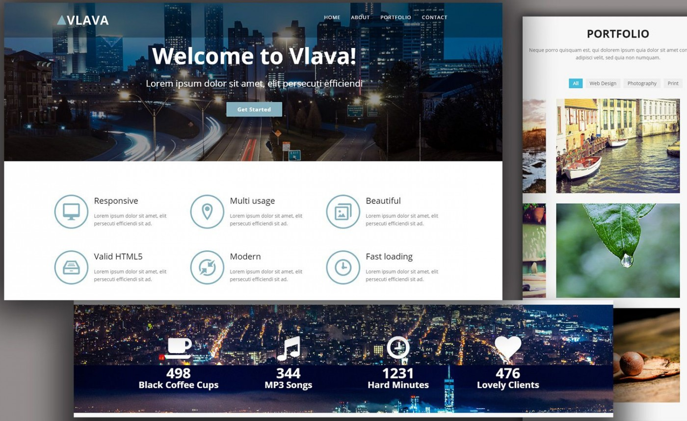 009 Singular One Page Website Template Html5 Responsive Free Download Photo 1400