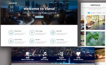 009 Singular One Page Website Template Html5 Responsive Free Download Photo 360