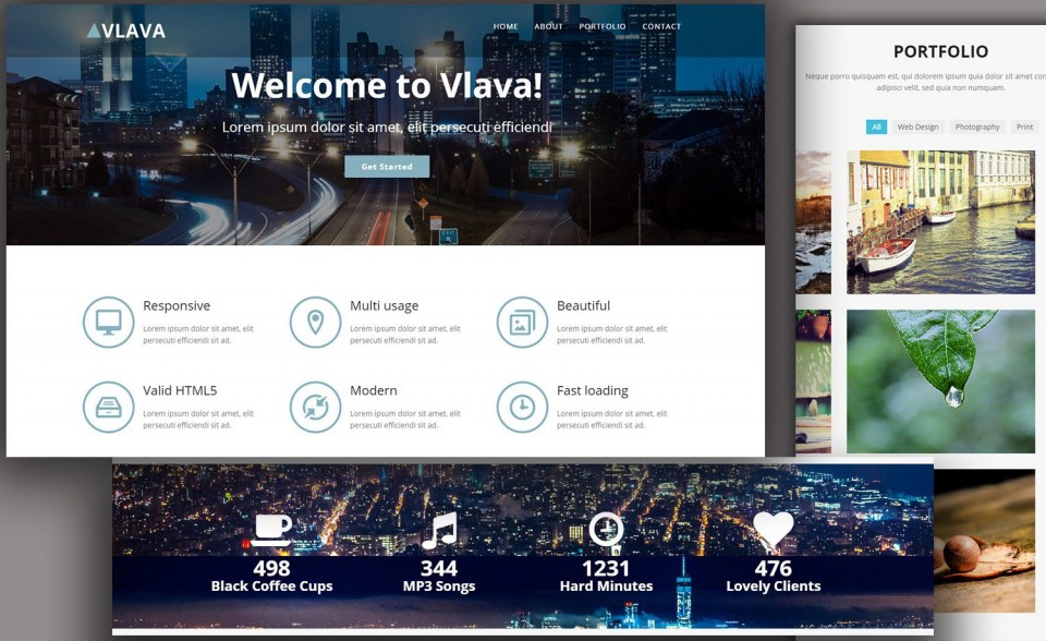 009 Singular One Page Website Template Html5 Responsive Free Download Photo 960