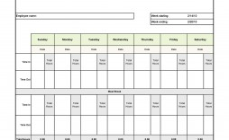 009 Singular Operation Employee Time Card Excel Template Image