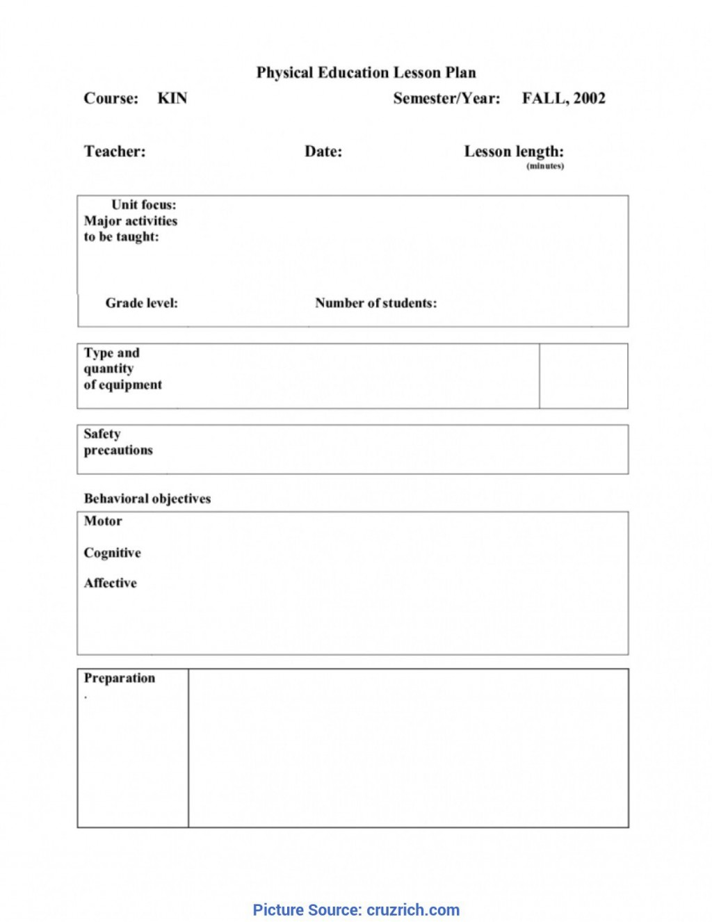 009 Singular Physical Education Lesson Plan Template Example  Elementary PdfLarge