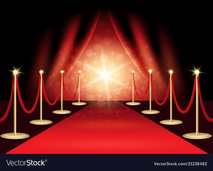 009 Singular Red Carpet Invitation Template Free Highest Quality  Party Download