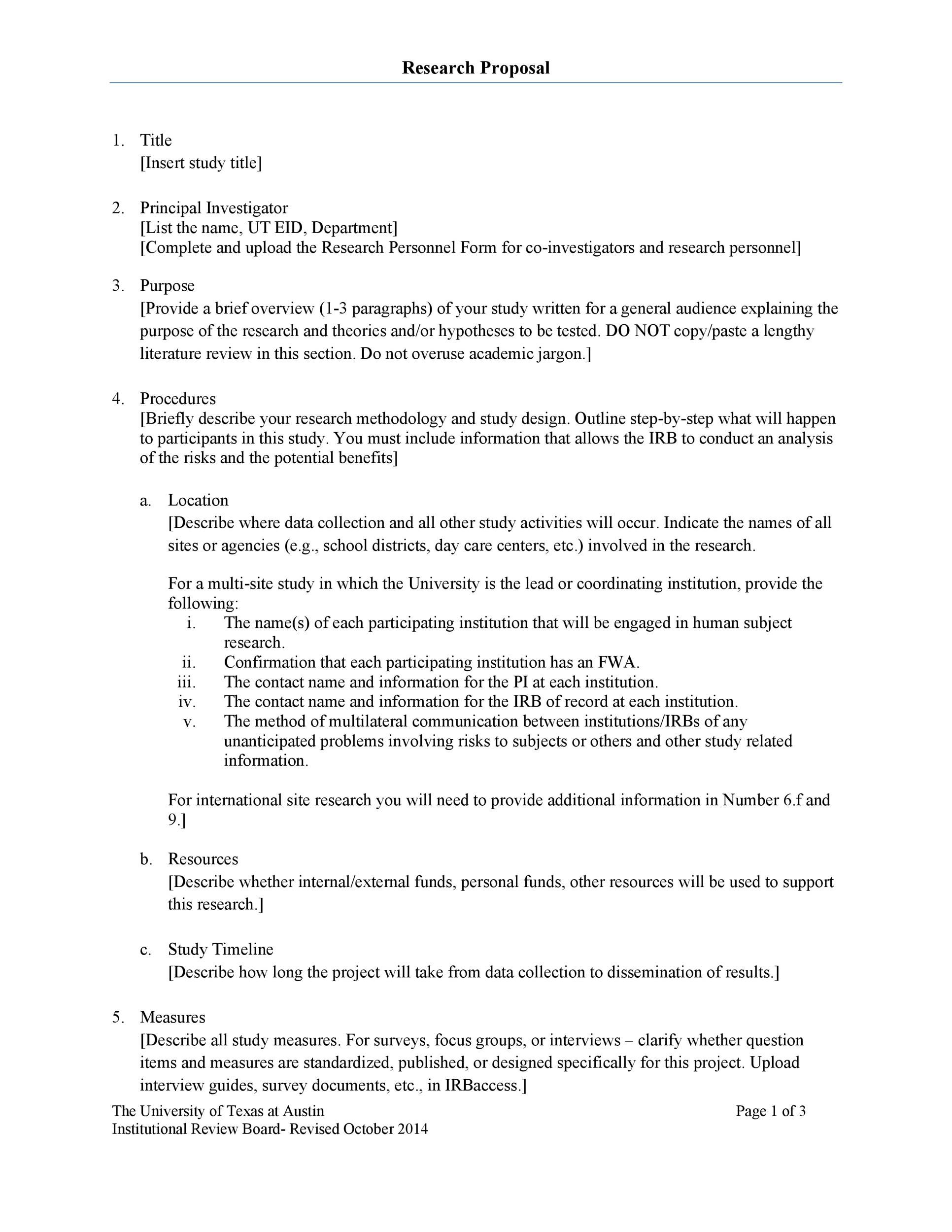 009 Singular Research Project Proposal Outline Example High Definition Full