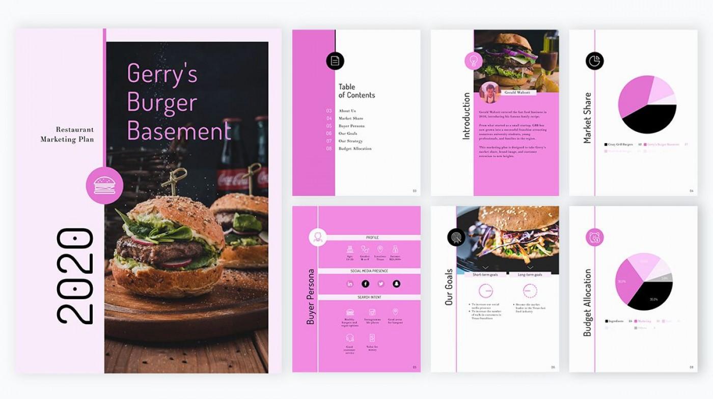 009 Singular Restaurant Marketing Plan Template Free Download Inspiration 1400