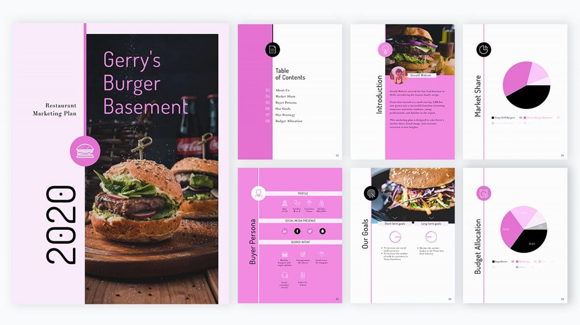 009 Singular Restaurant Marketing Plan Template Free Download Inspiration 1920