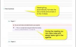 009 Singular Staff Meeting Agenda Template Highest Clarity  Example Format