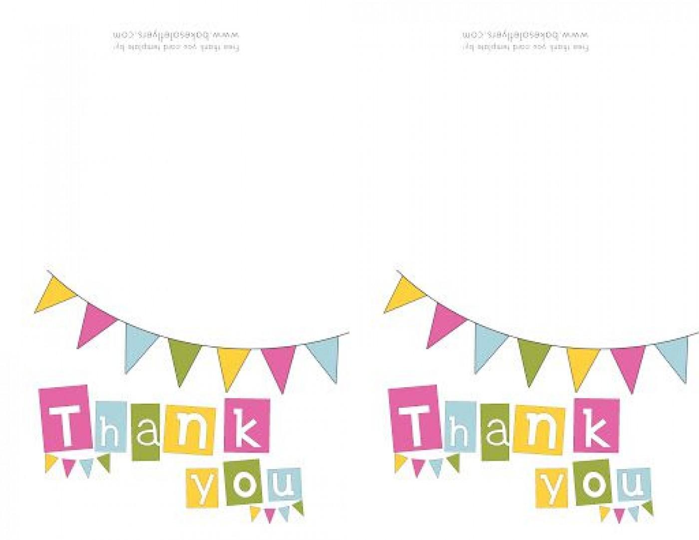 009 Singular Thank You Note Template Free Printable Design 1400