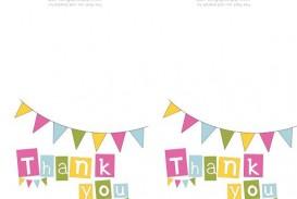 009 Singular Thank You Note Template Free Printable Design