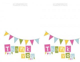 009 Singular Thank You Note Template Free Printable Design 320